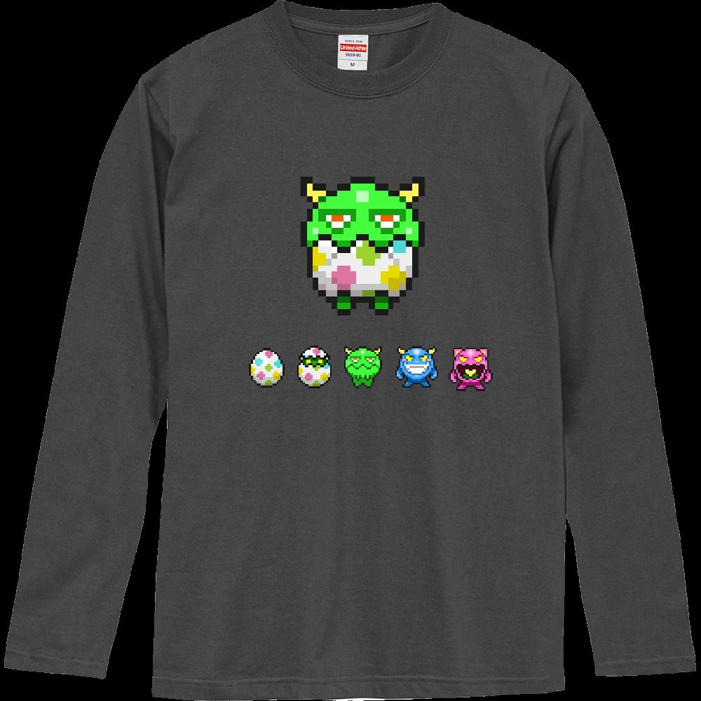 【全13色】ロングスリーブTシャツ5.6oz 前面おむつモンスターデザイン ロングスリーブTシャツ