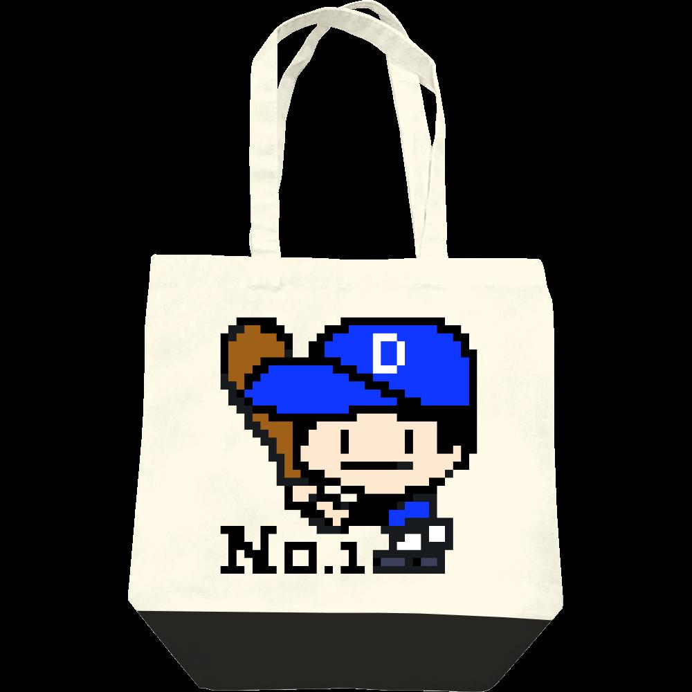 野球少年D -ピクセルアート- レギュラーキャンバストートバッグ(M)