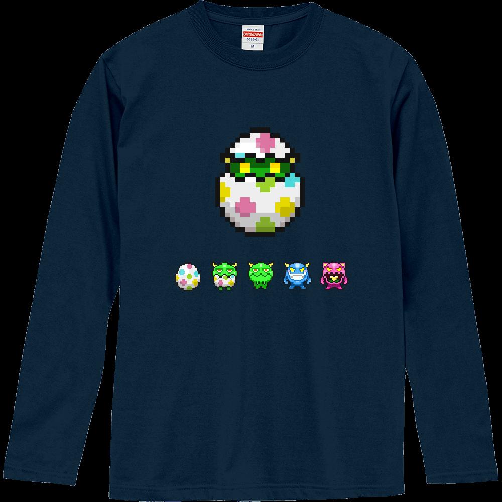 【全13色】ロングスリーブTシャツ5.6oz 前面eggerモンスターデザイン ロングスリーブTシャツ