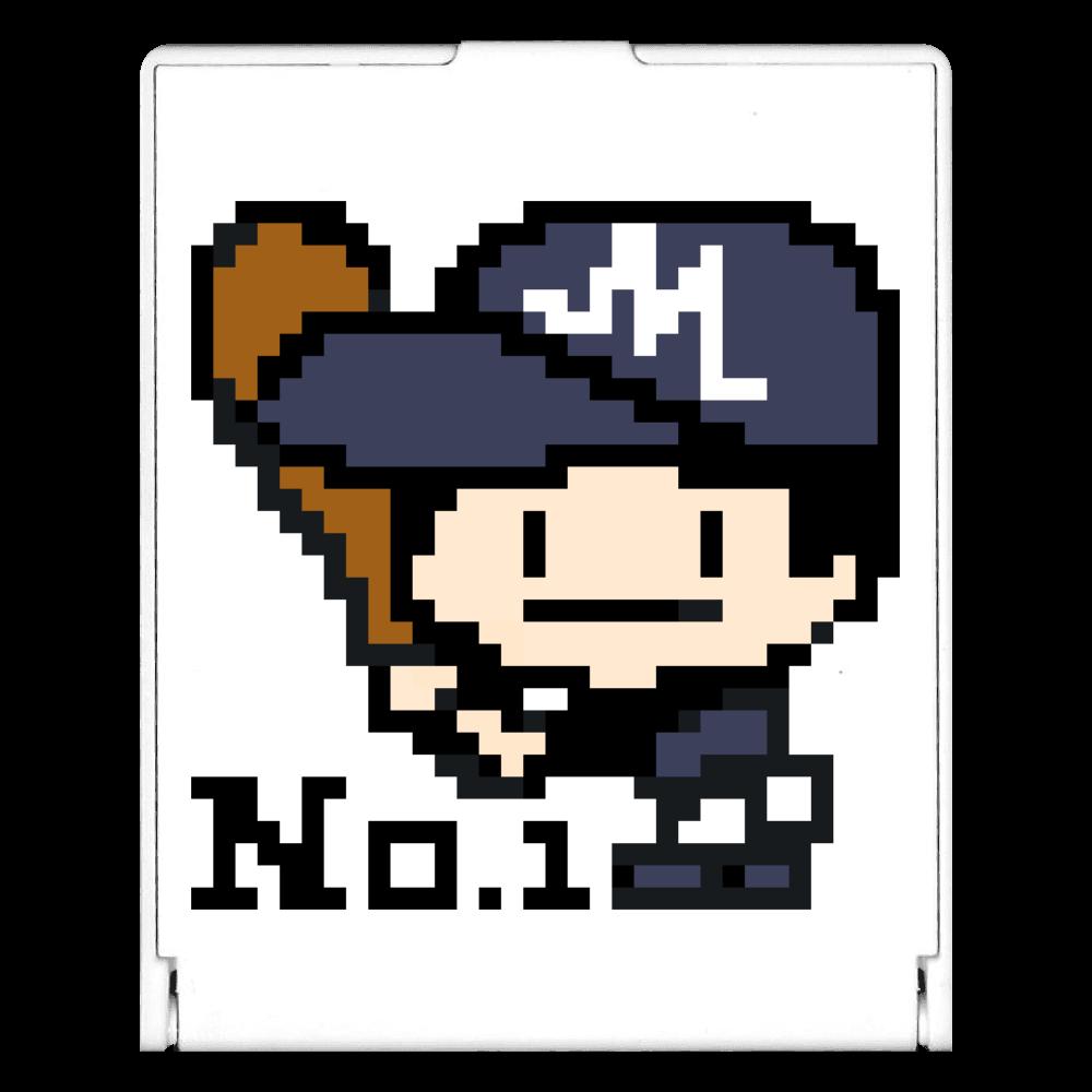 野球少年M -ピクセルアート- スクエアミラー