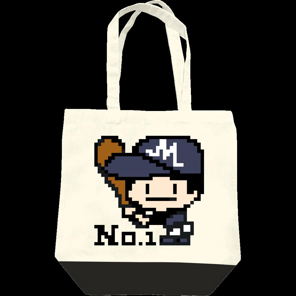 野球少年M -ピクセルアート- レギュラーキャンバストートバッグ(M)