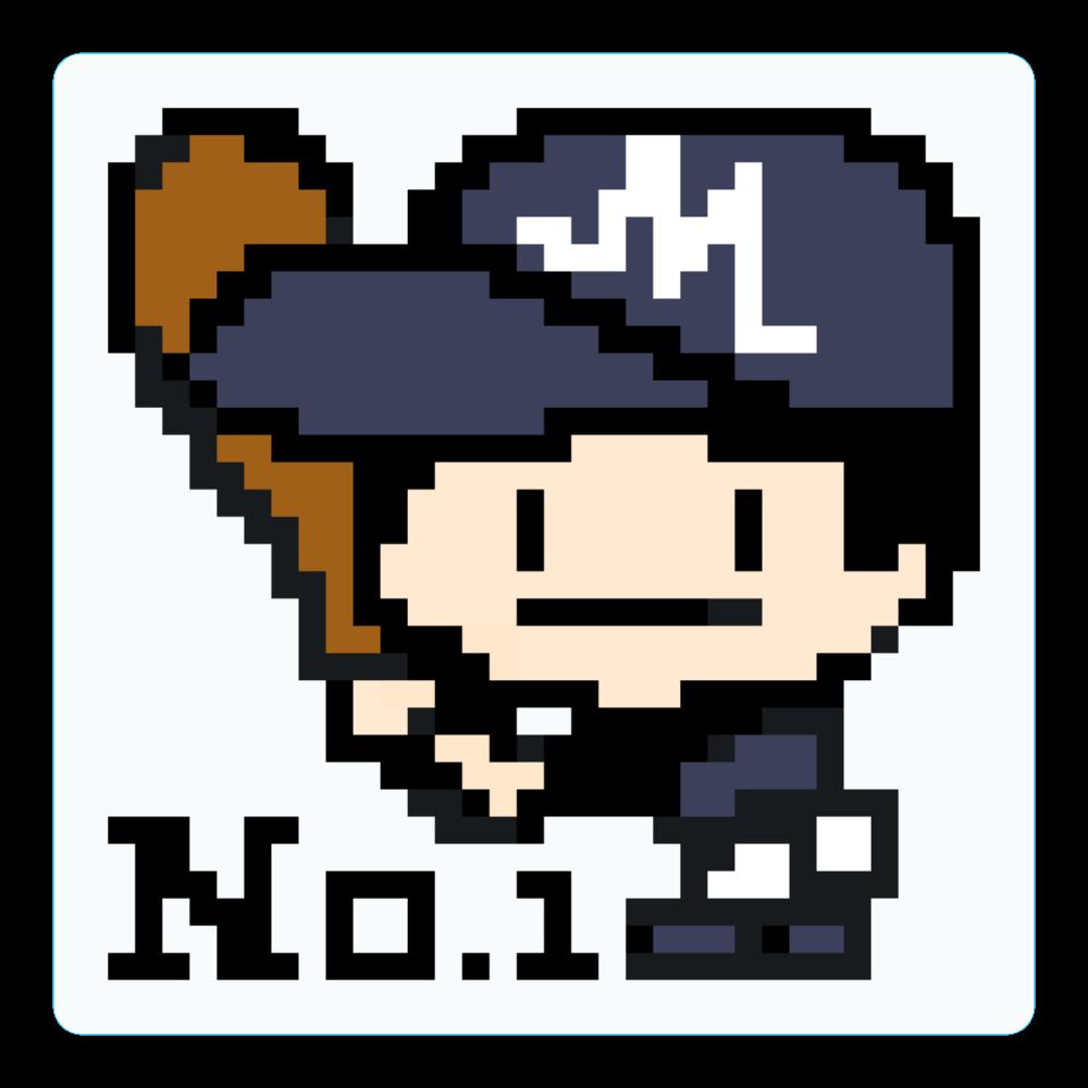 野球少年M -ピクセルアート- アクリルコースター(四角)