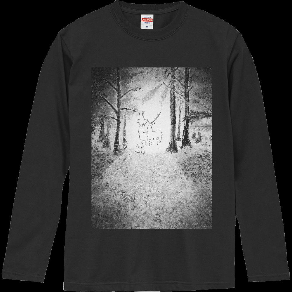 対話 モノクロバージョン ロングスリーブTシャツ