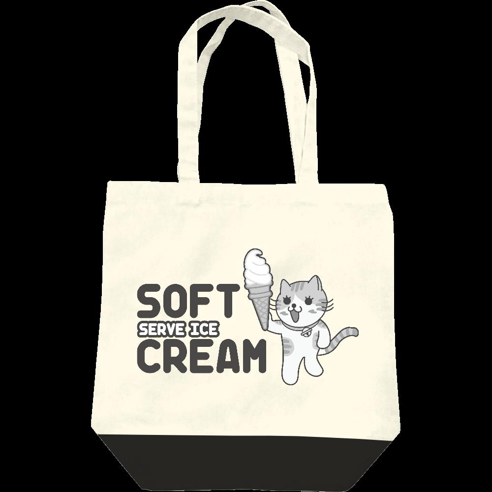 ソフトクリームにゃんこ レギュラーキャンバストートバッグ(M)