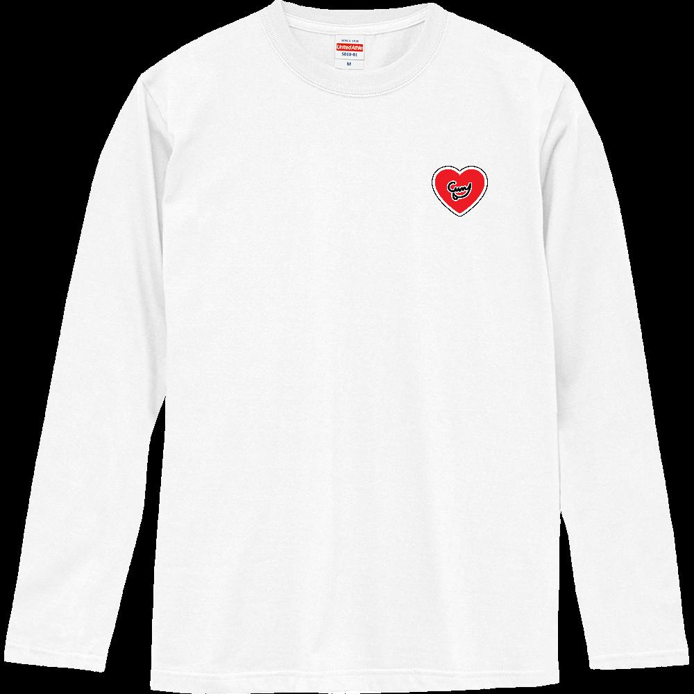 Curry Heart(ワッペン風/左胸)(12色) ロングスリーブTシャツ