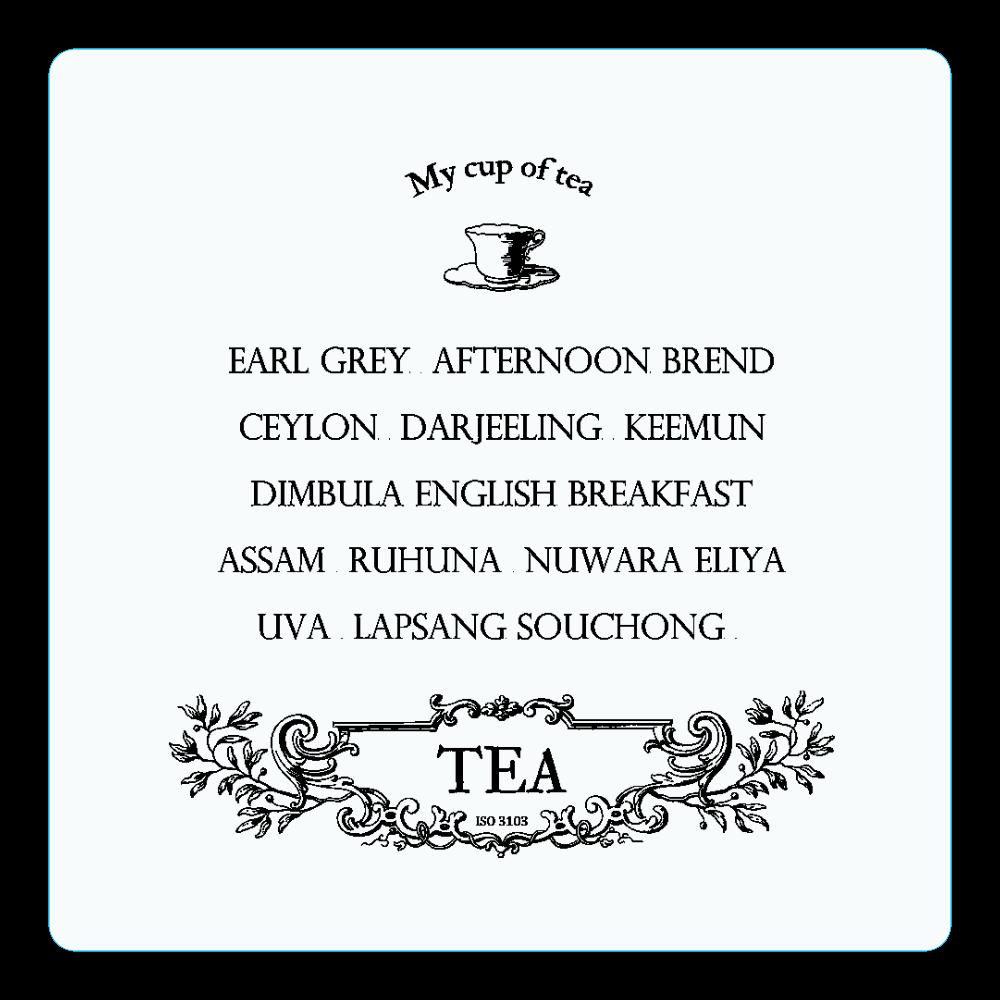 お気に入りの紅茶 アクリルコースター(四角)