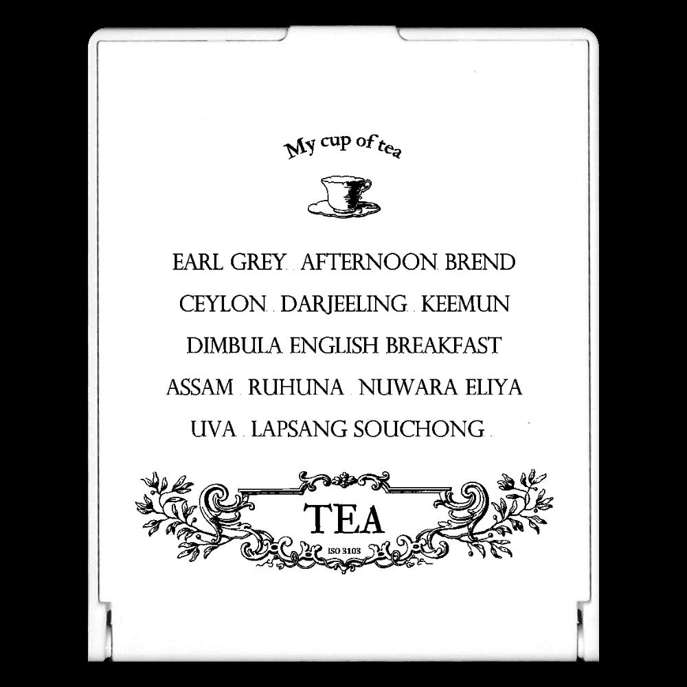 お気に入りの紅茶 スクエアミラー