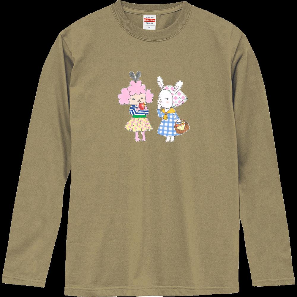 りんご♡(モモ&スカーレット) ロングスリーブTシャツ