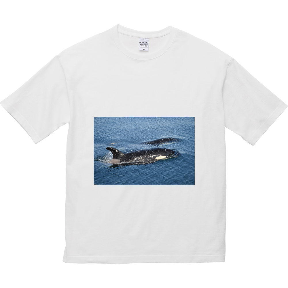 シャチ 5.6オンス ビッグシルエット Tシャツ