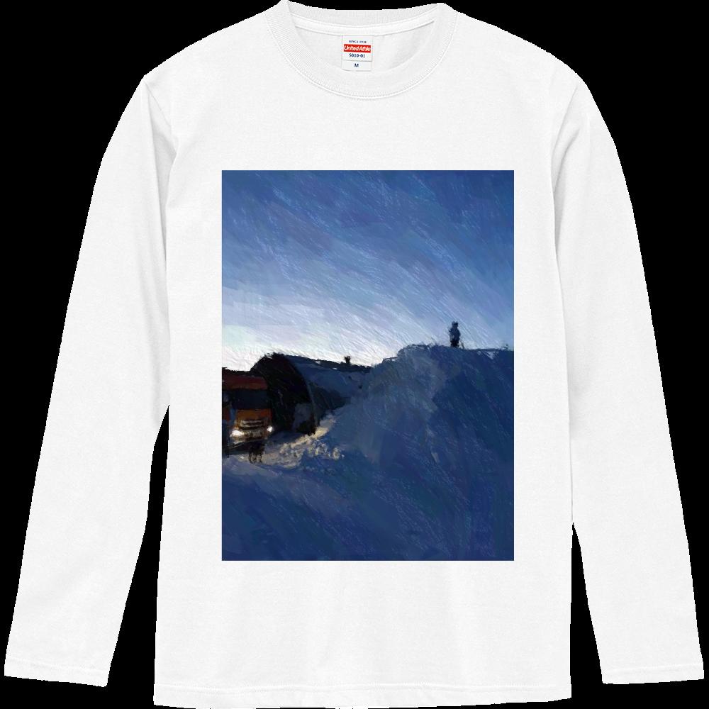 雪よ高く ロングスリーブTシャツ