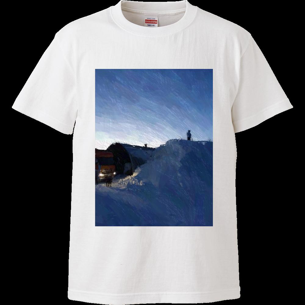 雪よ高く ハイクオリティーTシャツ