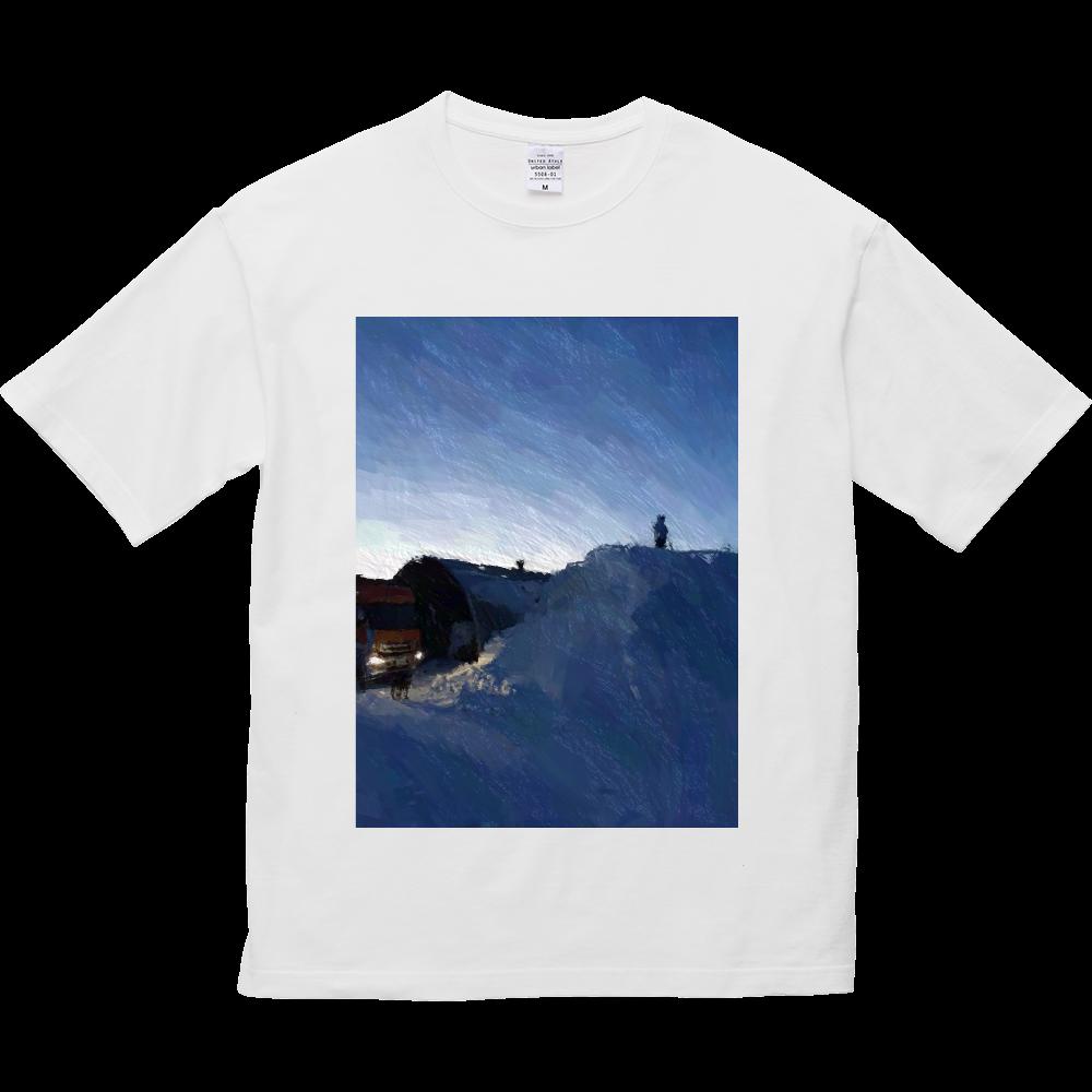 雪よ高く 5.6オンス ビッグシルエット Tシャツ