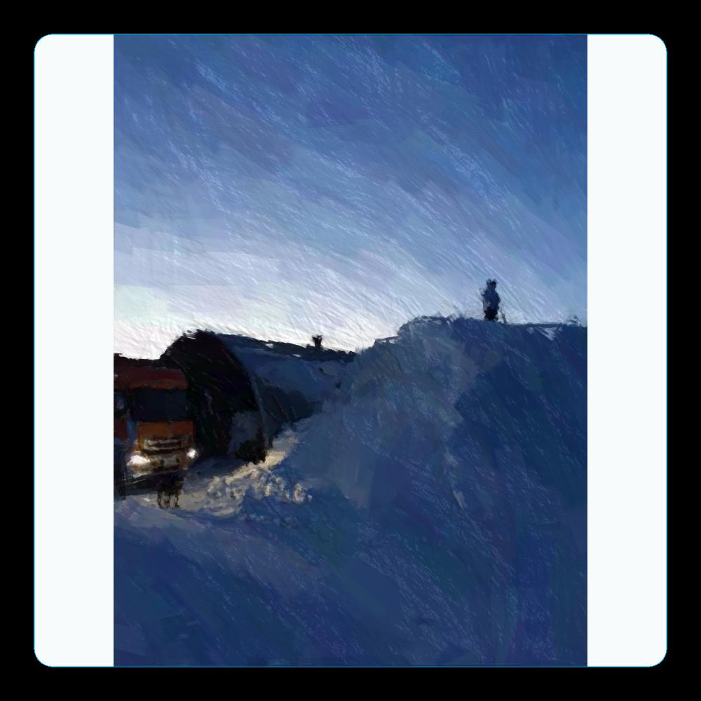 雪よ高く アクリルコースター(四角)