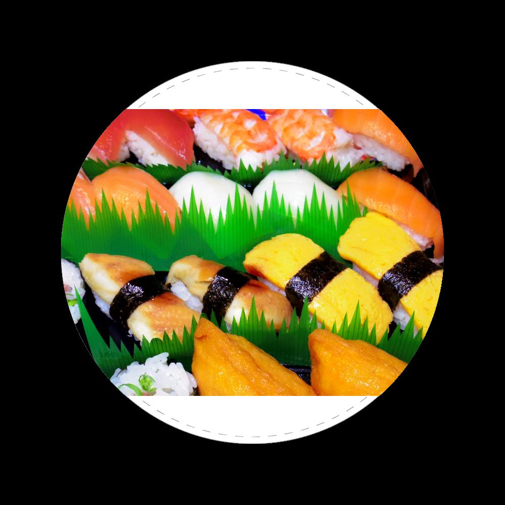 握り寿司 56㎜缶バッジ