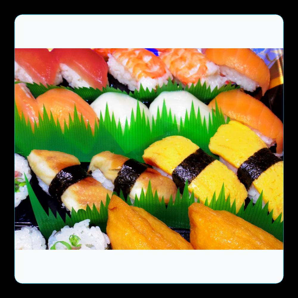 握り寿司 アクリルコースター(四角)