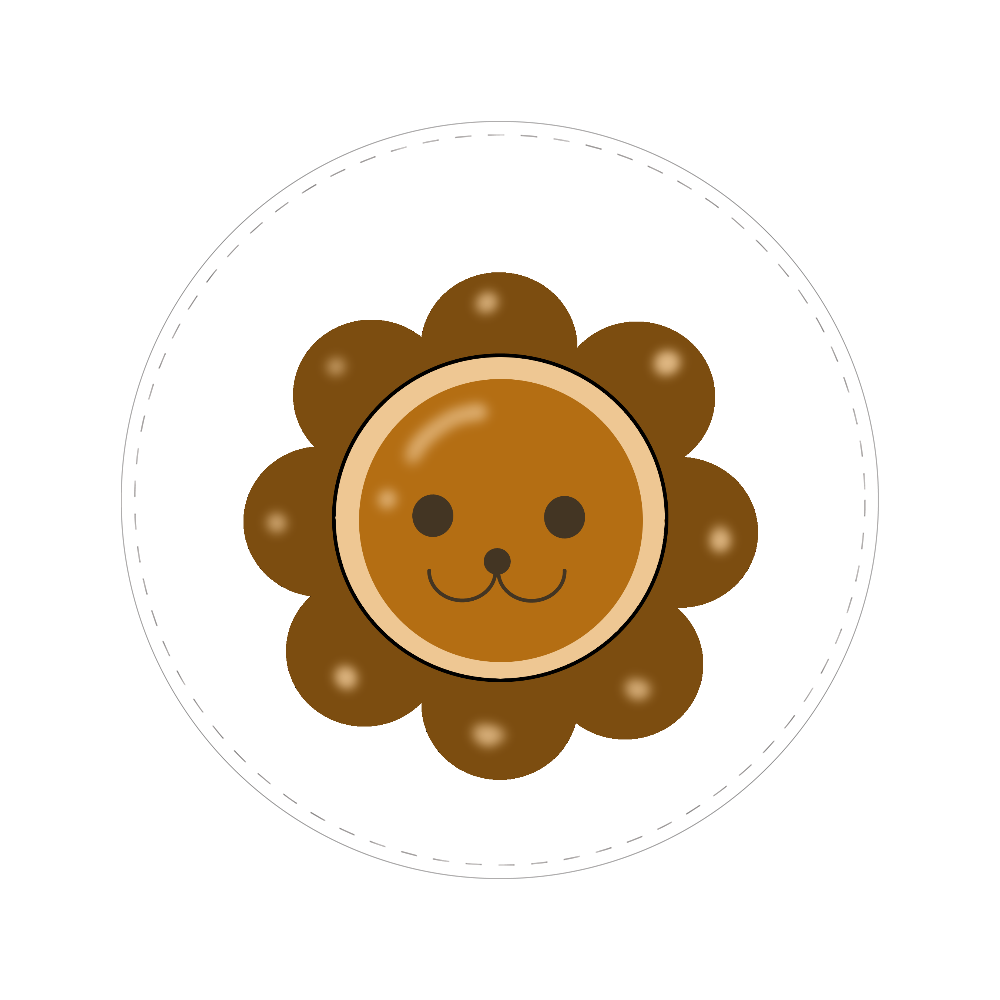 ライオンパン 56㎜缶バッジ