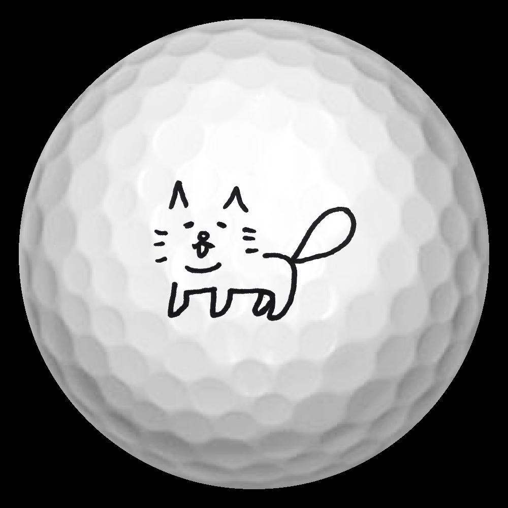 ゆるにゃ~シリーズ ゴルフボール(3個セット)