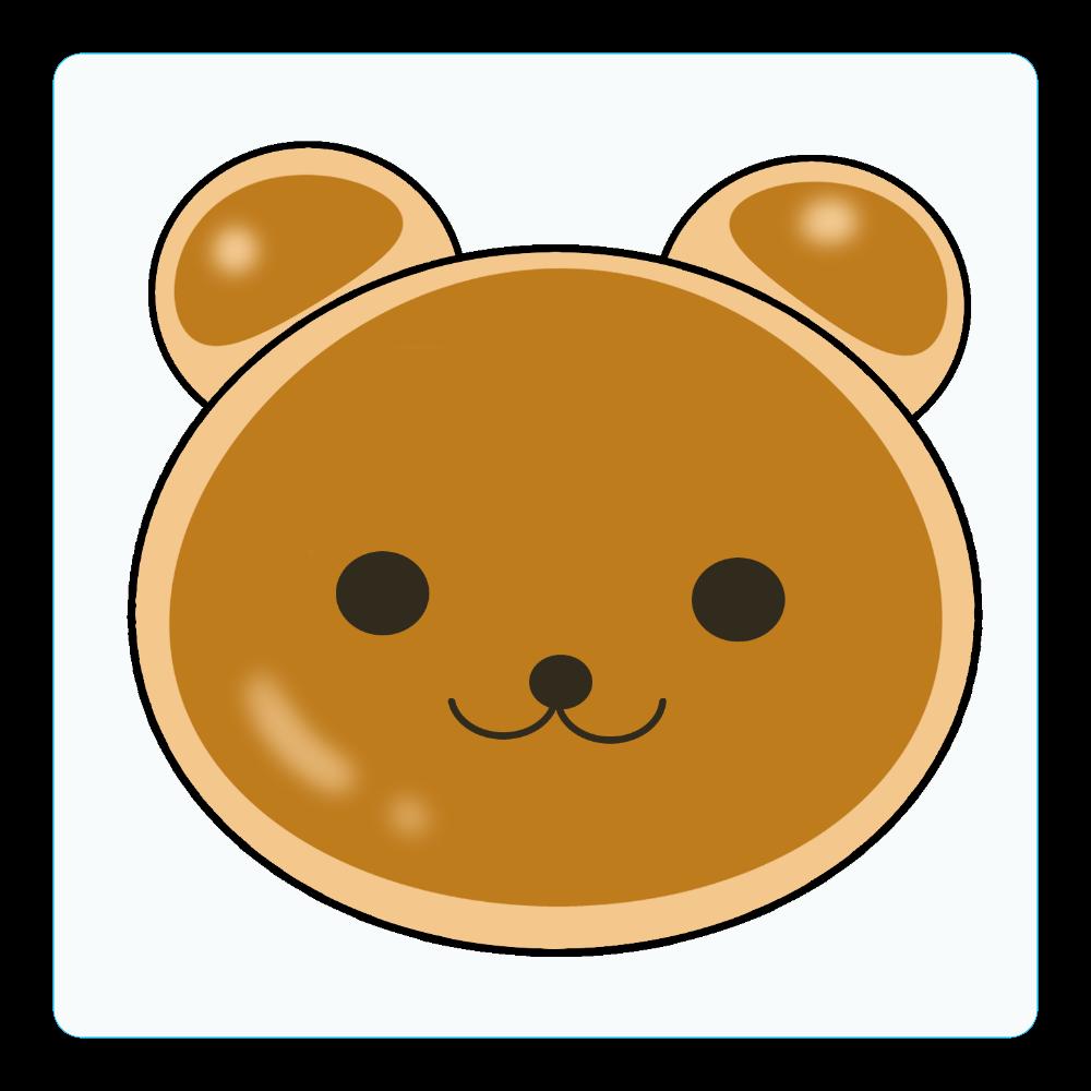 クマパン アクリルコースター(四角)