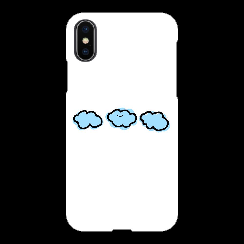 なぞくも スマホケース iPhoneX/Xs(透明)