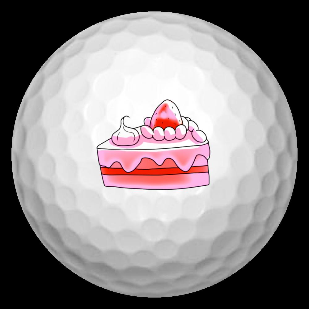 イチゴショートケーキ☆シリーズ ゴルフボール(3個セット)