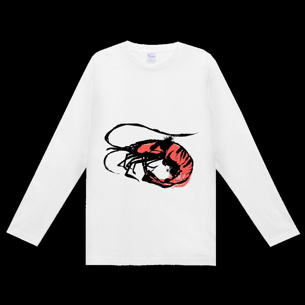 アートな海老の墨絵 ヘビーウェイト長袖Tシャツ