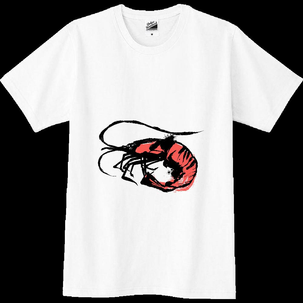 アートな海老の墨絵 スリムTシャツ