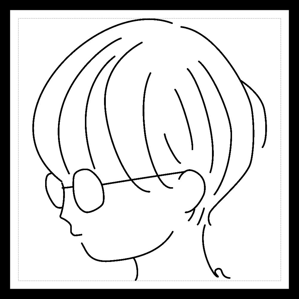 short girl sticker 01 100mmホワイトステッカー・シール