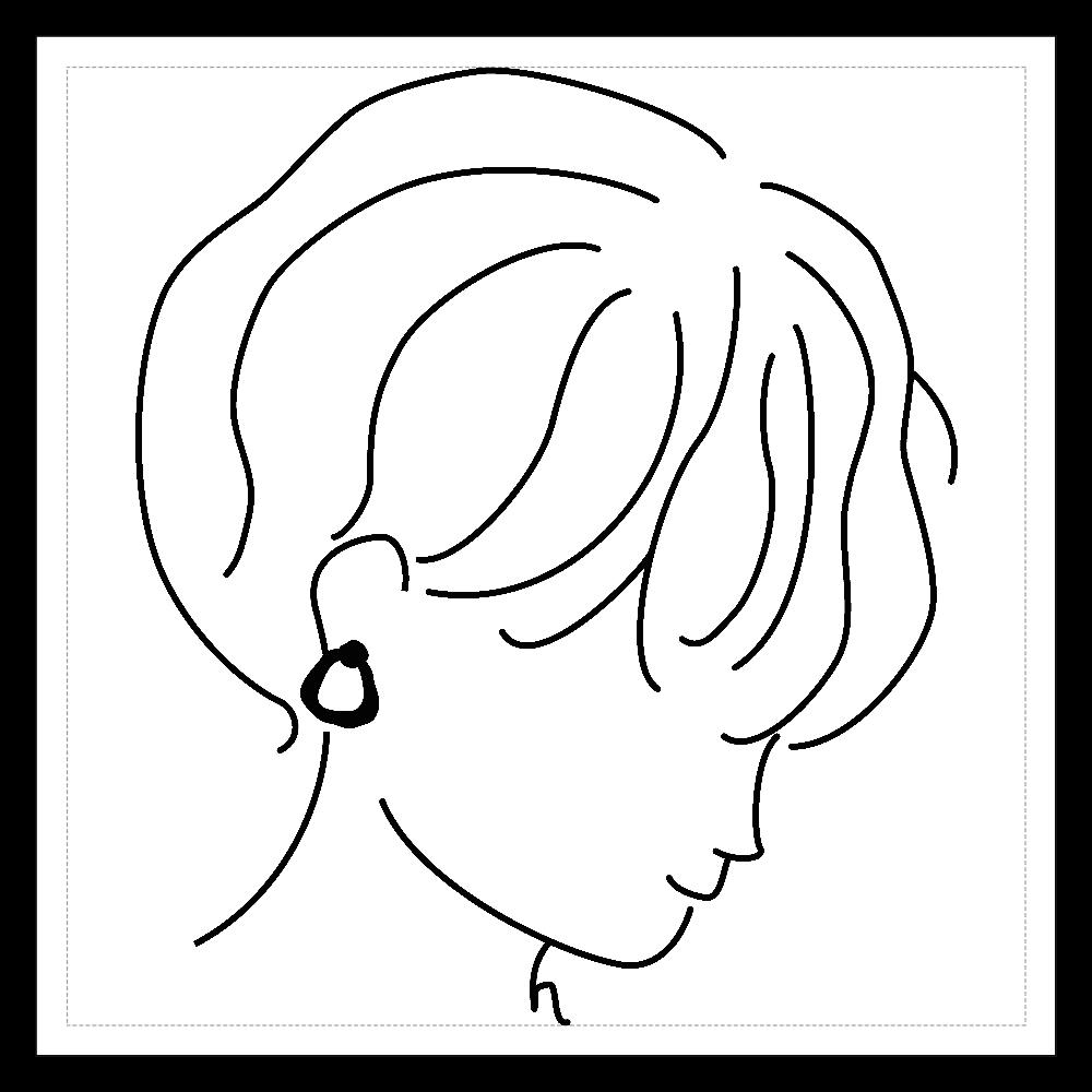 short girl sticker 02 100mmホワイトステッカー・シール