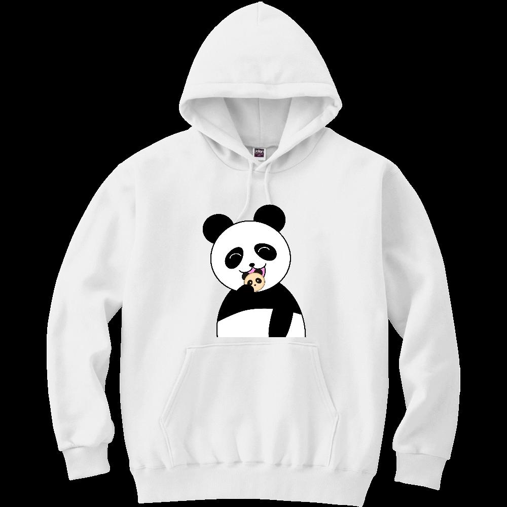 パンダパンを食べるパンダ 軽量プルパーカー (長袖プリント)