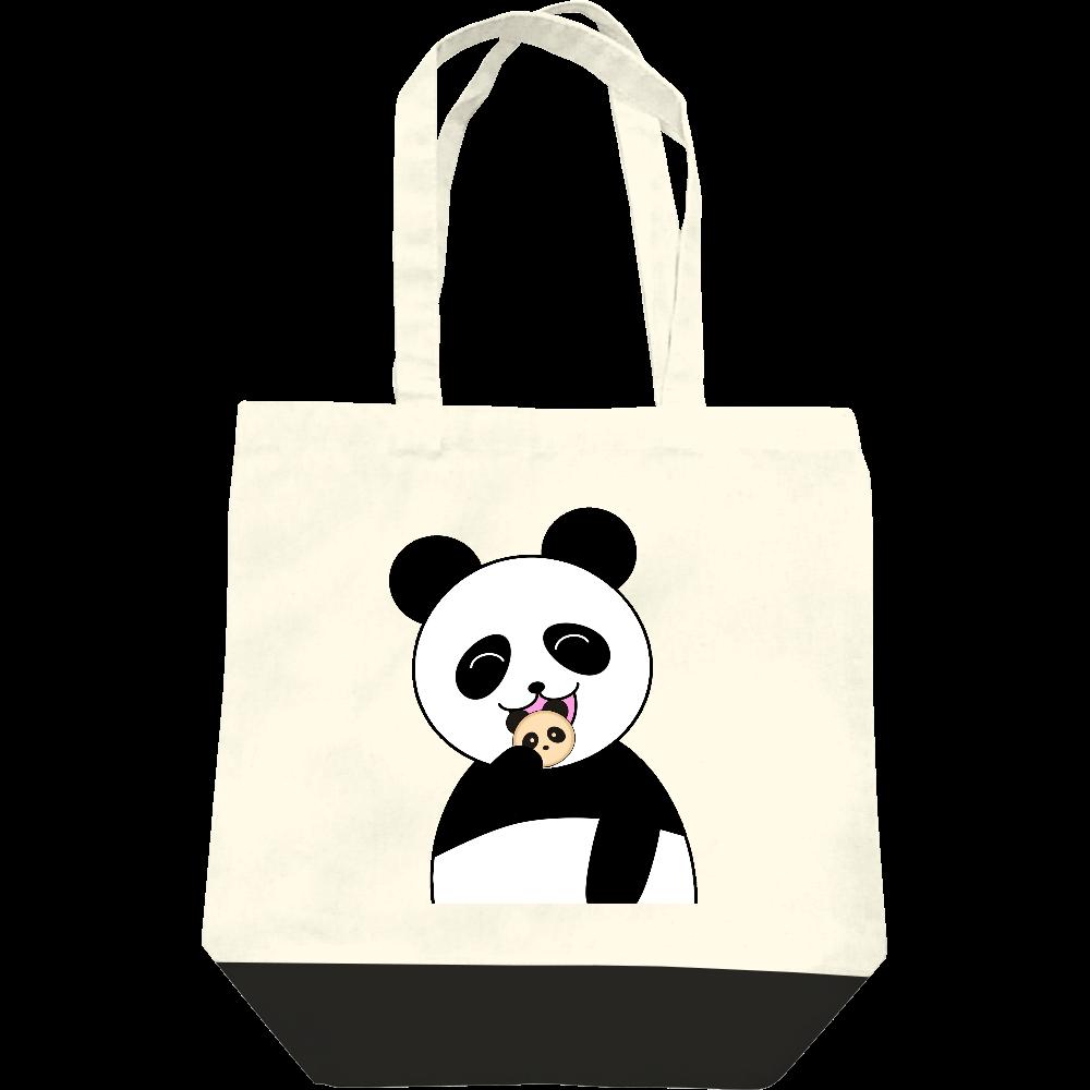 パンダパンを食べるパンダ レギュラーキャンバストートバッグ(M)