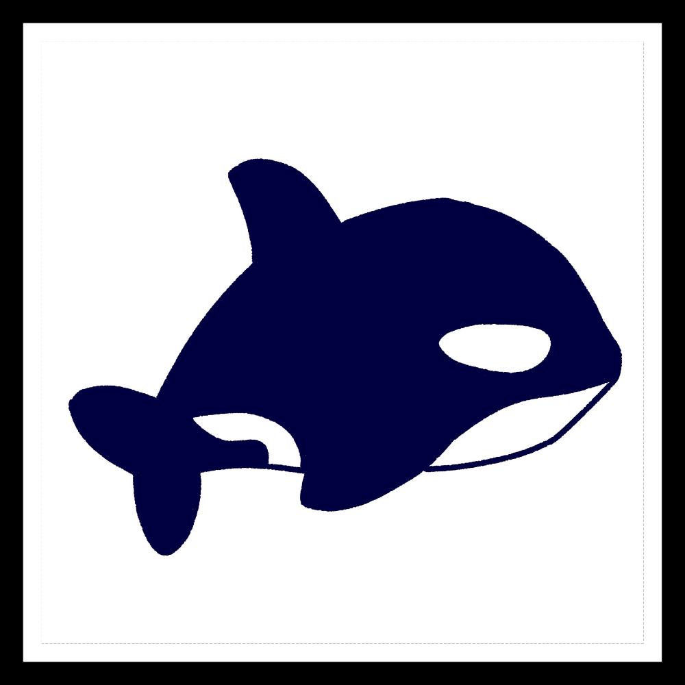 シャチ 100mmホワイトステッカー・シール