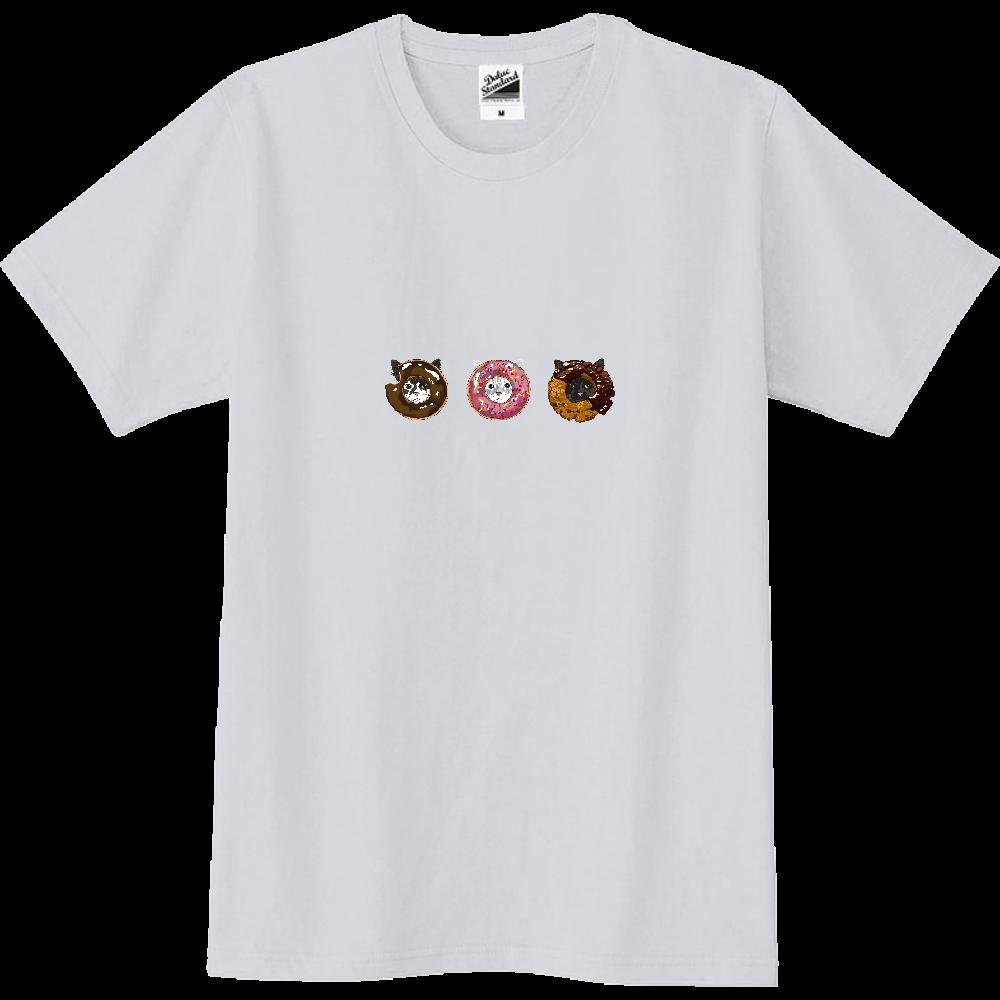 猫シリーズ ドーナツ猫 スリムTシャツ