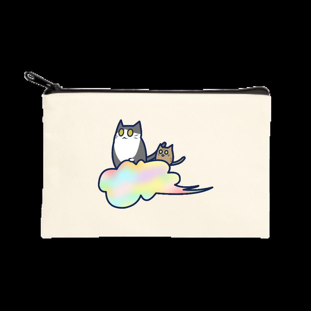 五色の雲と二匹の猫 ポーチ(S) ポーチ(S)