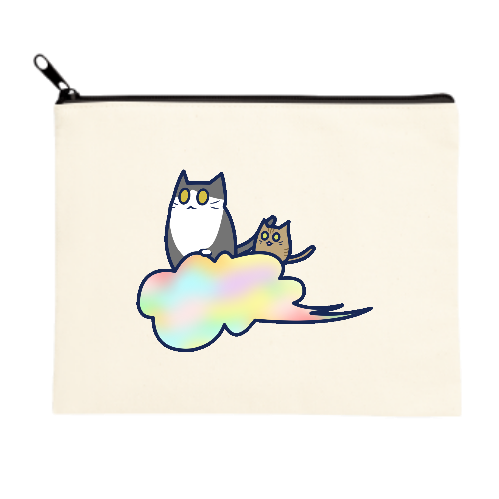 五色の雲と二匹の猫 ポーチ(M) ポーチ(M)