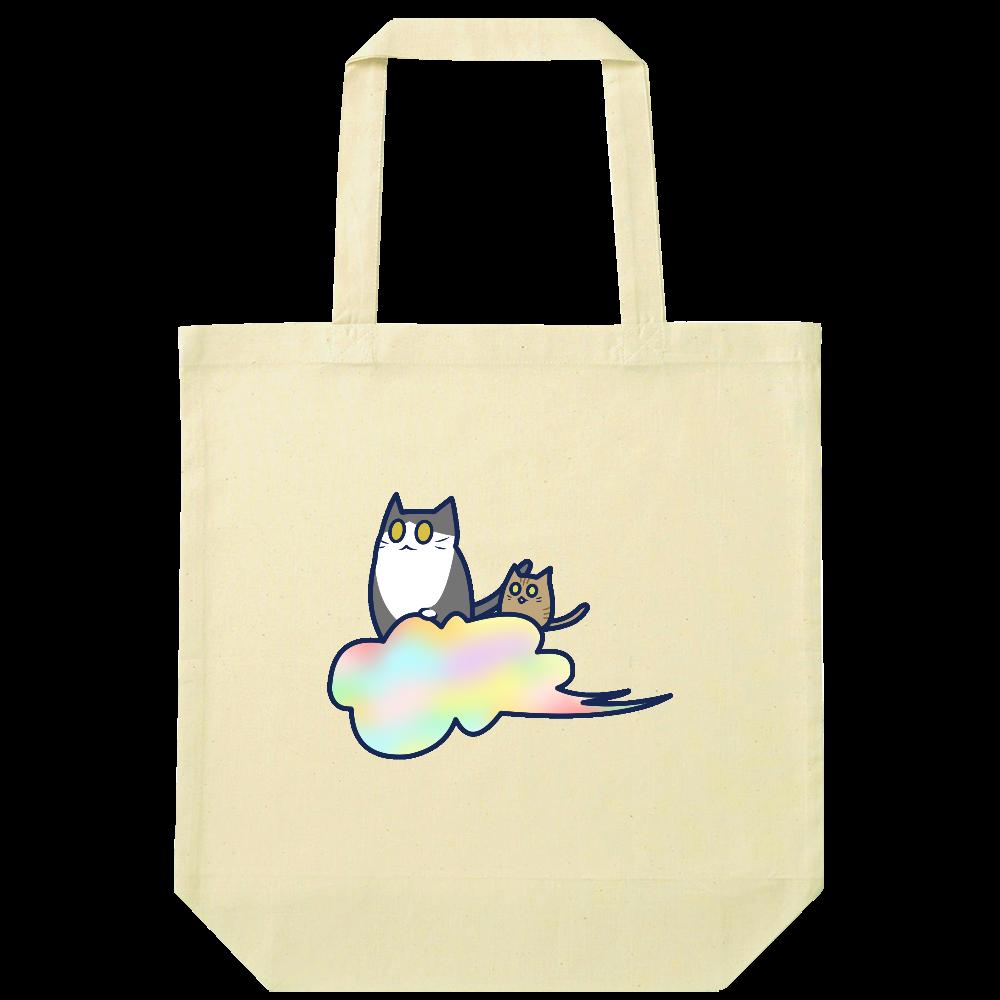 五色の雲と二匹の猫 ナチュラルコットンバッグ ナチュラルコットンバッグ