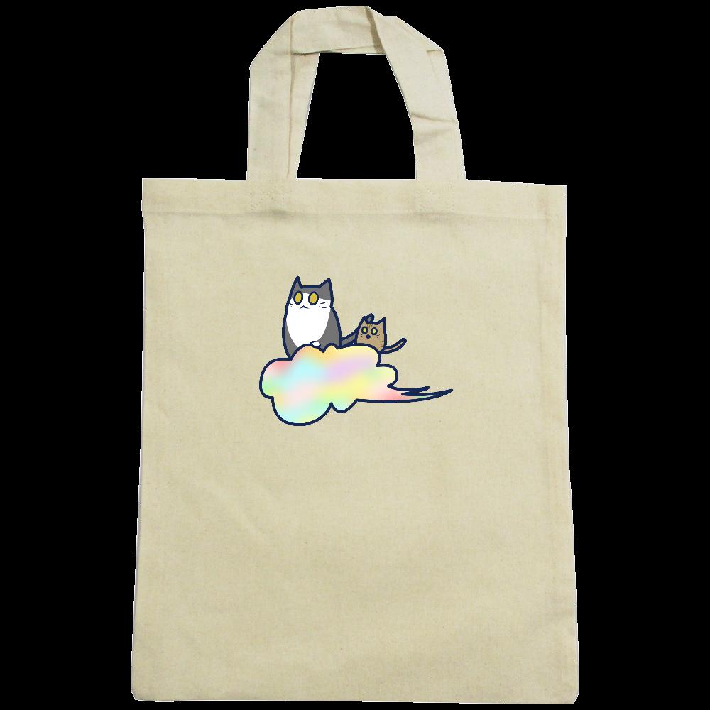 五色の雲と二匹の猫 A4コットンバッグ A4コットンバッグ