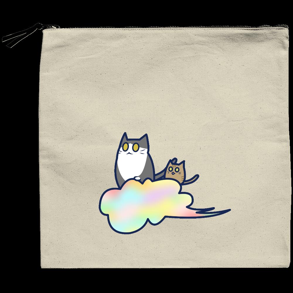五色の雲と二匹の猫 クラッチバッグ クラッチバッグ