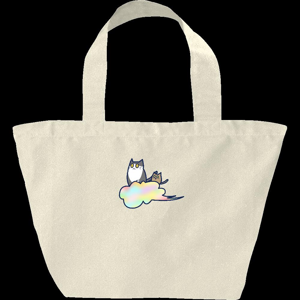 五色の雲と二匹の猫 ヘヴィーキャンバス ランチバッグ ヘヴィーキャンバス ランチバッグ