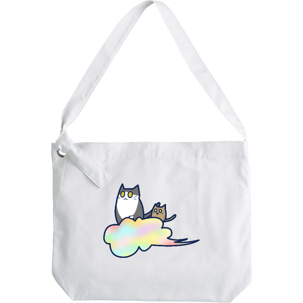 五色の雲と二匹の猫 クラフトリングショルダーバッグ クラフトリングショルダーバッグ