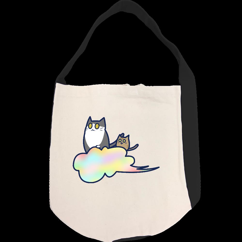 五色の雲と二匹の猫 ヘヴィーキャンバス ワンショルダーバッグ ヘヴィーキャンバス ワンショルダーバッグ