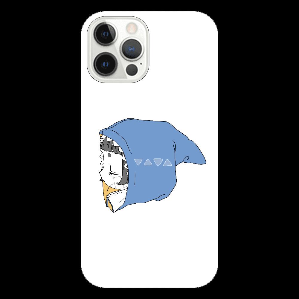 さめちゃんパーカーiPhone12Proケース iPhone12 Pro(透明)
