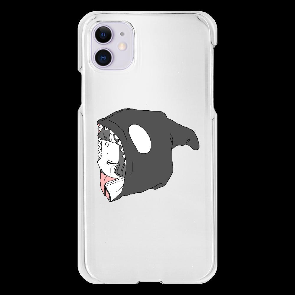 しゃちちゃんパーカーiPhone11ケース iPhone11(透明)