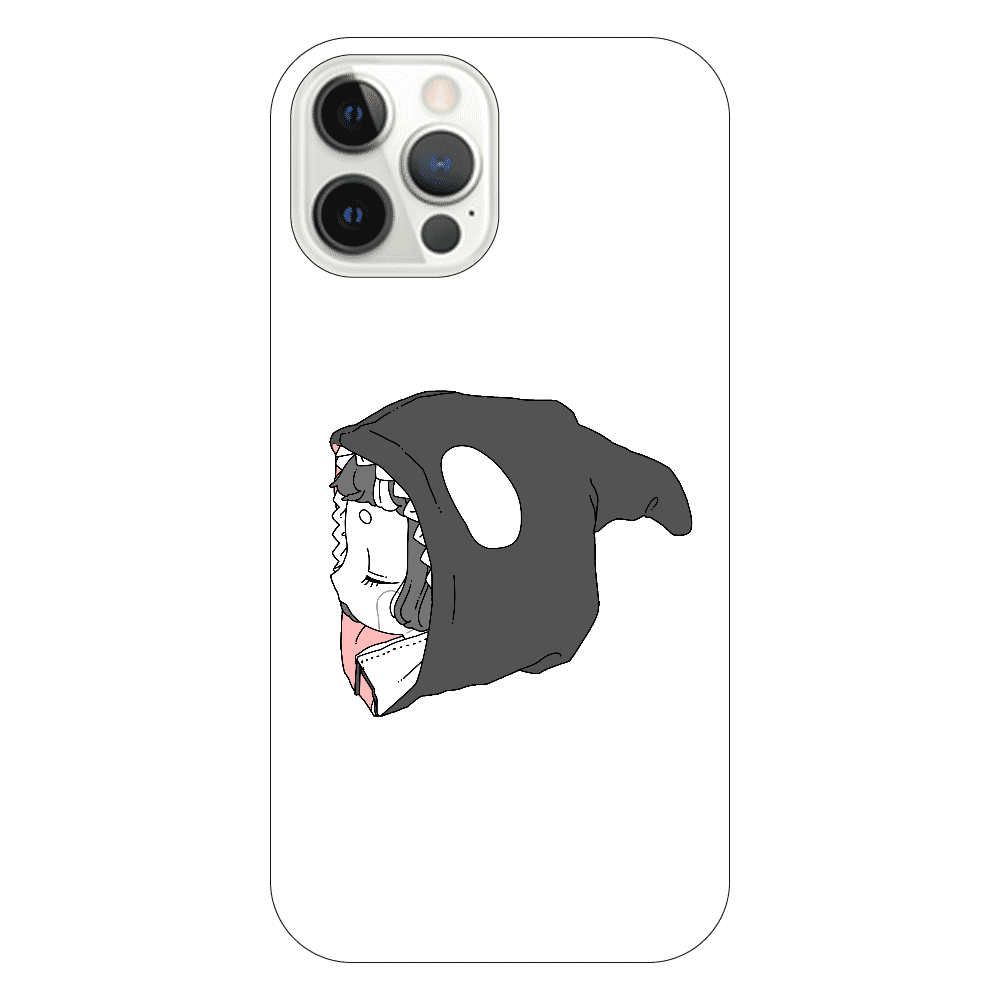 しゃちちゃんパーカーiPhone12Proケース iPhone12 Pro(透明)