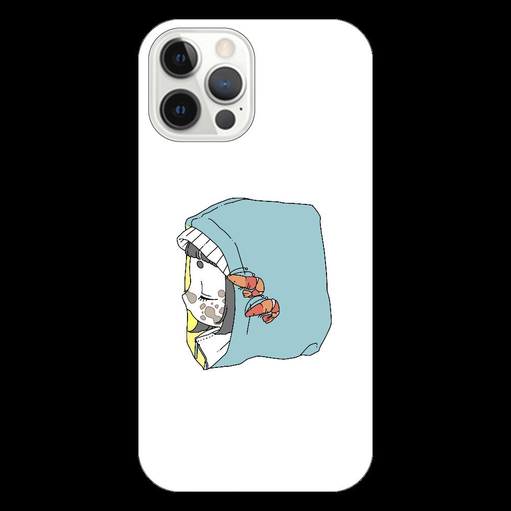 くじらちゃんパーカーiPhone12Proケース iPhone12 Pro(透明)