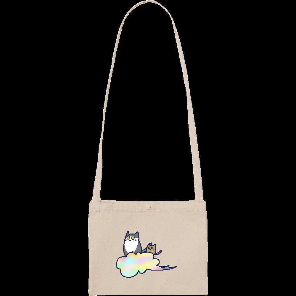 五色の雲と二匹の猫 スタンダードキャンバスサコッシュ スタンダードキャンバスサコッシュ
