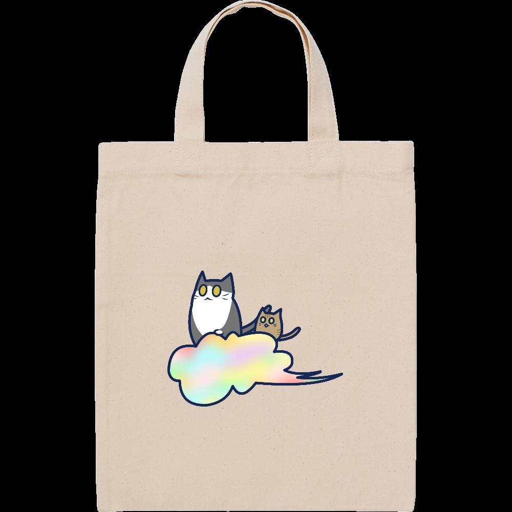 五色の雲と二匹の猫 スタンダードキャンバスフラットトートバッグ(S) スタンダードキャンバスフラットトートバッグ(S)