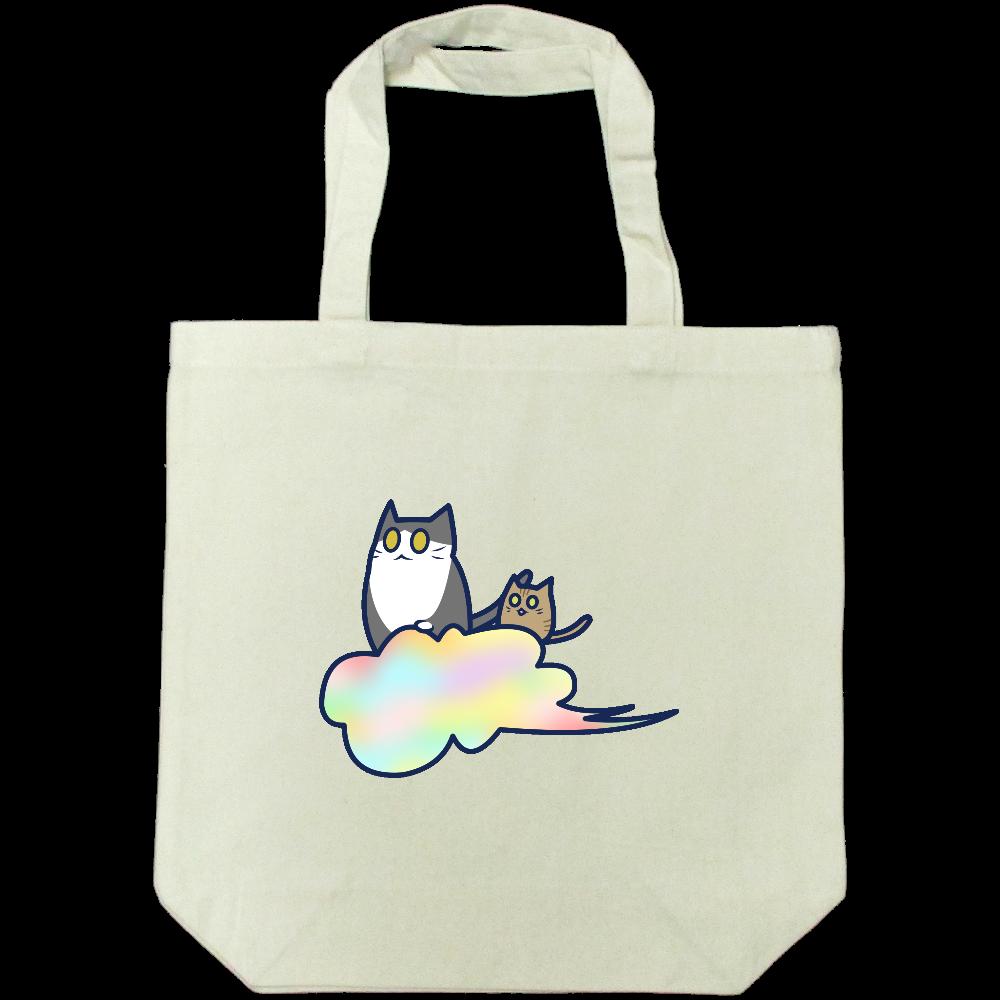五色の雲と二匹の猫 ライトキャンバストートバック(M) ライトキャンバストートバック(M)