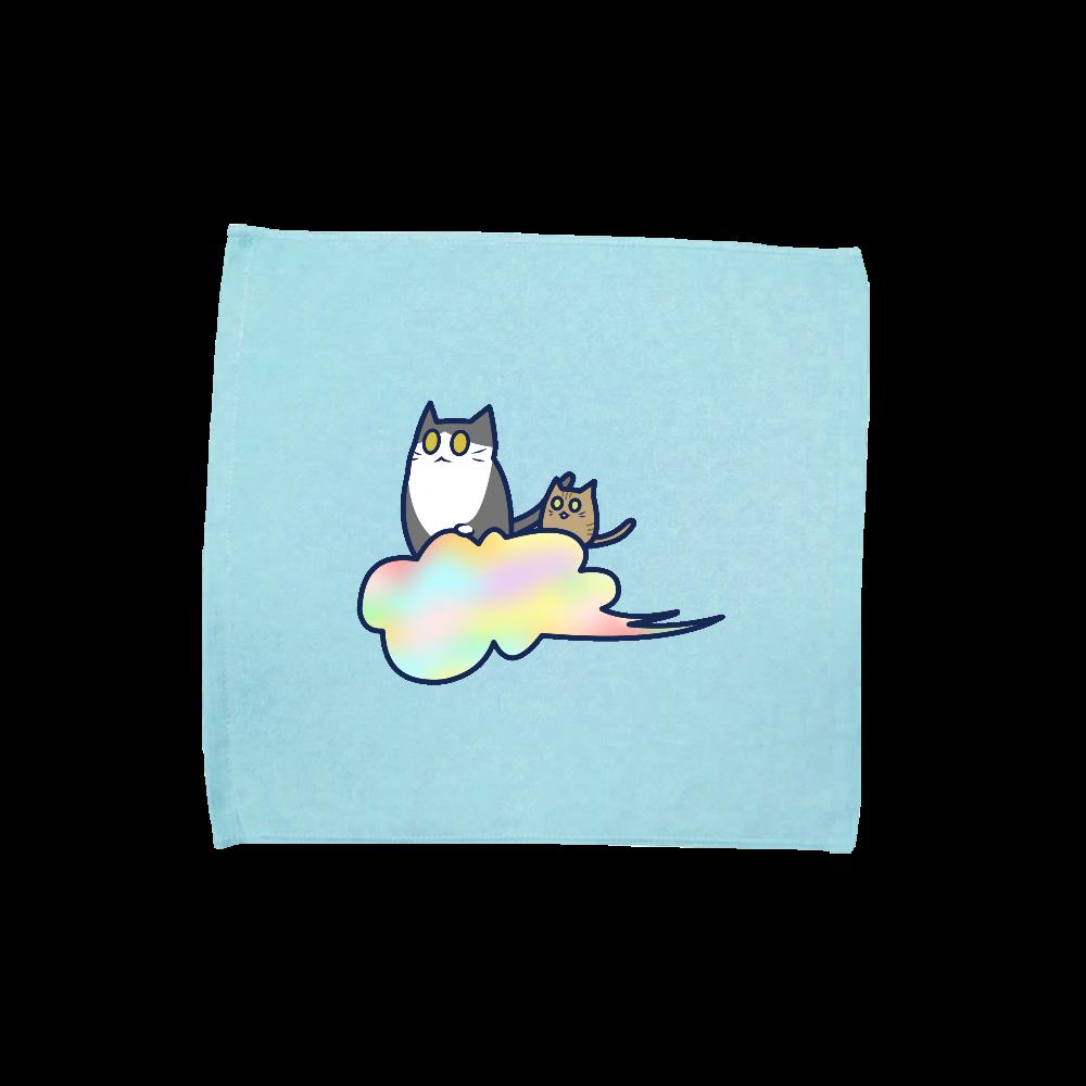 五色の雲と二匹の猫 ハンドタオル ハンドタオル