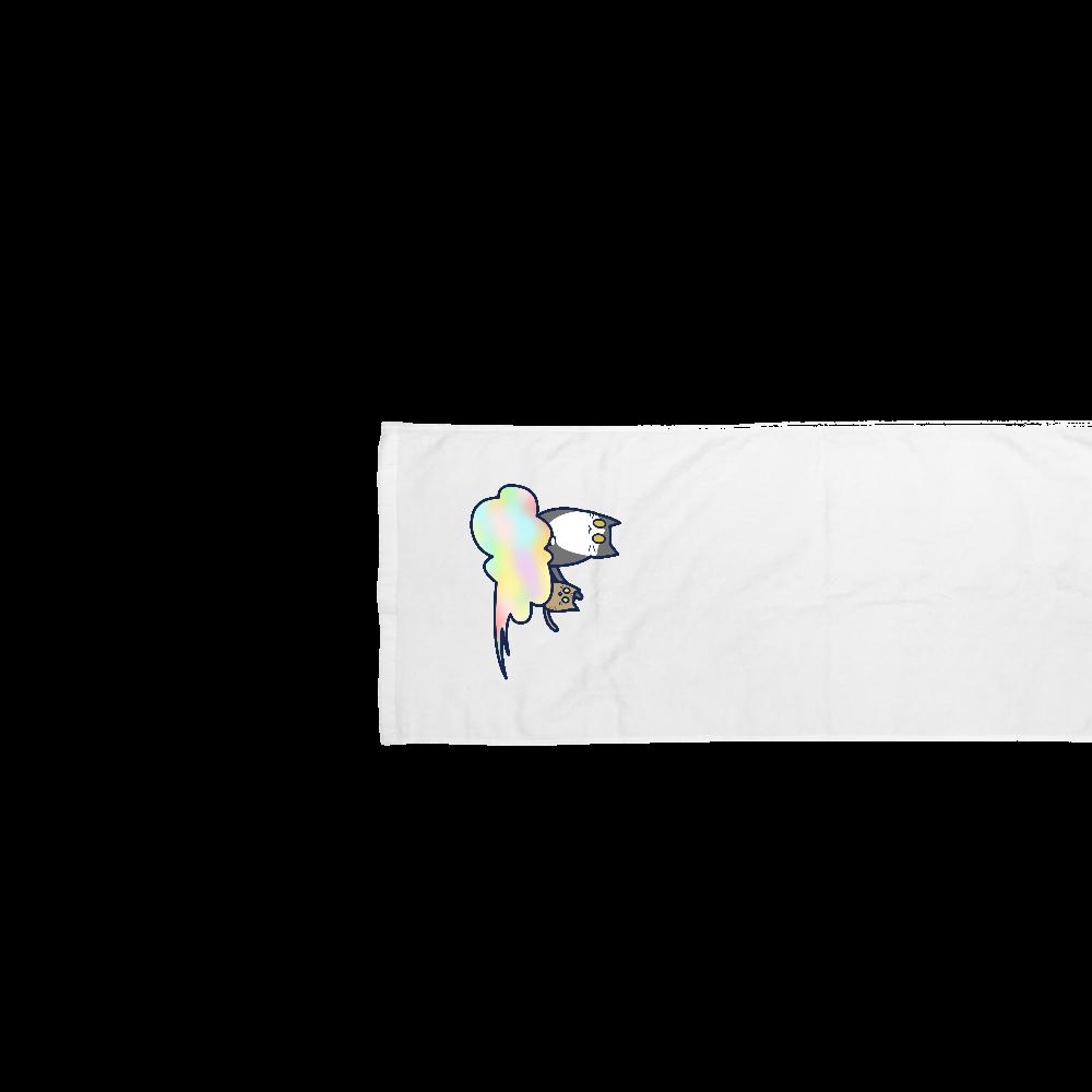 五色の雲と二匹の猫 スポーツタオル スポーツタオル