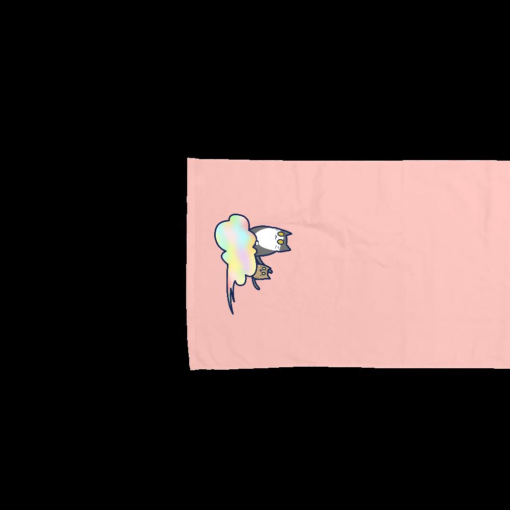 五色の雲と二匹の猫 バスタオル バスタオル